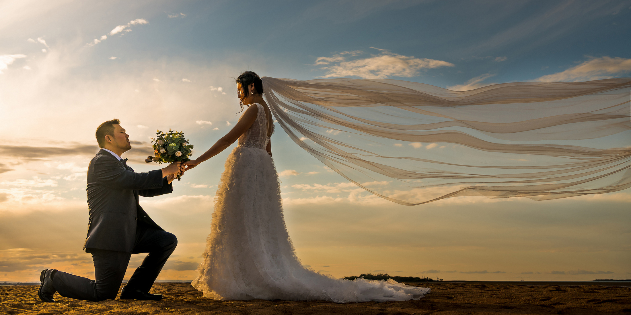 Wedding photos in Wellington Point of Brisbane