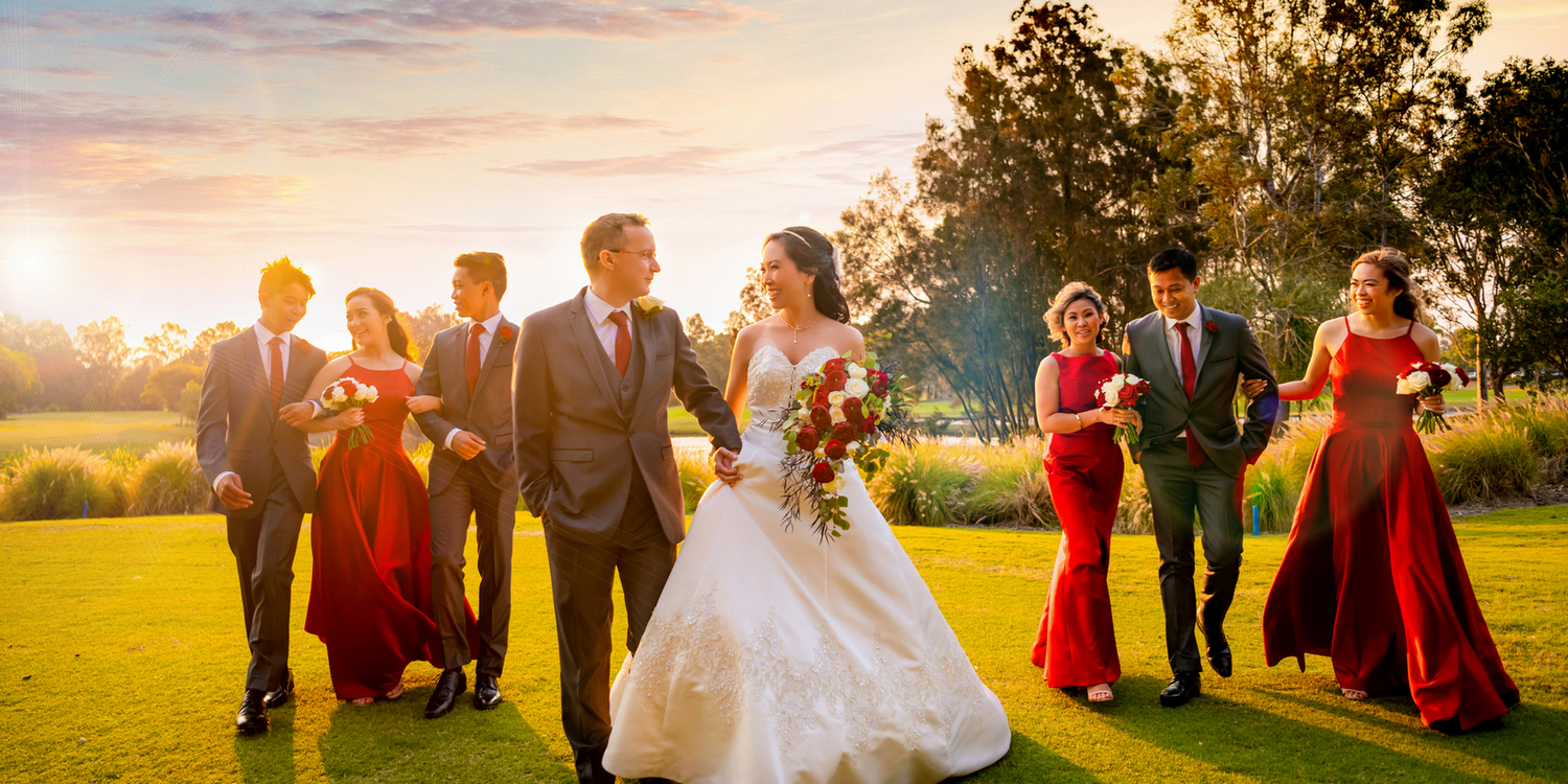 Sunset Wedding photo in Gold Coast